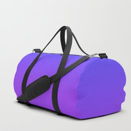 Neon Purple and Bright Neon Blue Ombré Shade Color Fade Duffle Bag