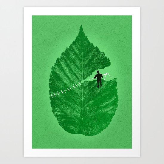Loose Leaf Art Print