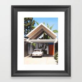 Eichler With Car Framed Art Print