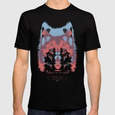 WOLF 3D X-LARGE Black Mens Fitted Tee