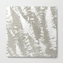Gray Ferns Photo Art Print Pattern Metal Print