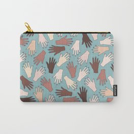 Nail Expert Studio - Colorful Manicured Hands Pattern Carry-All Pouch
