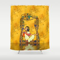 egyptian Shower Curtains featuring Egyptian Fusion by BohemianBound