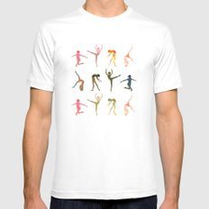 figures White MEDIUM Mens Fitted Tee