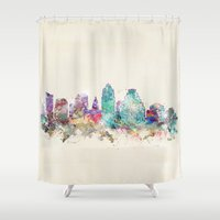 austin Shower Curtains featuring austin texas  by bri.buckley