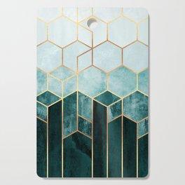 Teal Hexagons Cutting Board