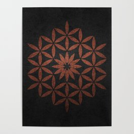 The Flower of Life - Ancient copper Poster