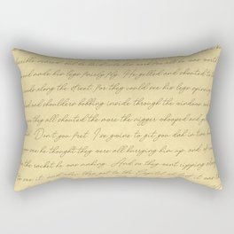 Manuscript Rectangular Pillow