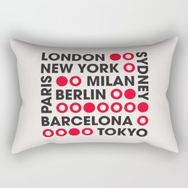 I Love This City Typography Rectangular Pillow