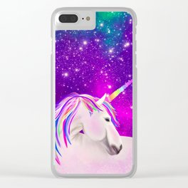 Celestial Unicorn Clear iPhone Case