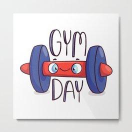 Gym Day Metal Print