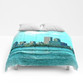 New Orleans Skyline (video game graphic style) Comforters