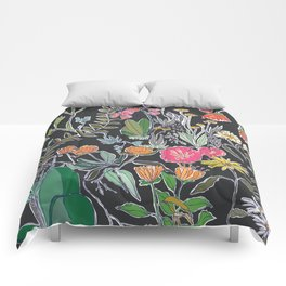 Summer Garden at Midnight Comforters