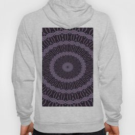 Eggplant and Pale Aubergine Circles Kaleidoscope Pattern Hoody