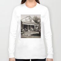 bar Long Sleeve T-shirts featuring Milk Bar by SwanniePhotoArt