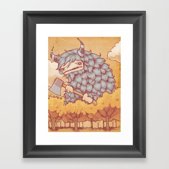 巨大的柴夫 (Great Firewood Husband) Framed Art Print