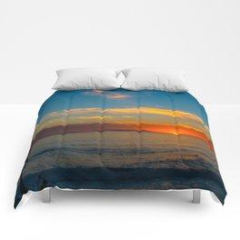 Sunset From Zero Comforters