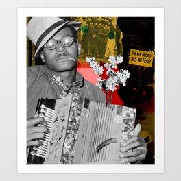 the new negro has no fear Art Print
