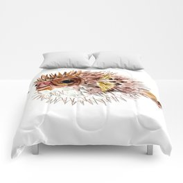 Little cute Fish, Puffer fish, cut fish art, coral aquarium fish Comforters