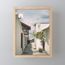 Fishing village Framed Mini Art Print
