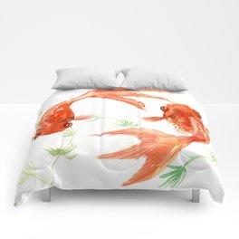 Koi Fish, Feng Shui, Goldfish art, Two fish, Comforters