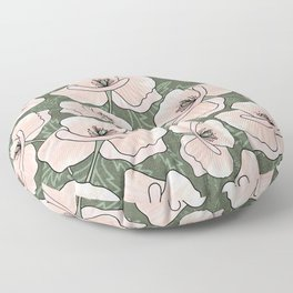 Pink Poppies Floor Pillow