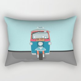 Thailand Tuk Tuk Taxi Travel Poster Rectangular Pillow