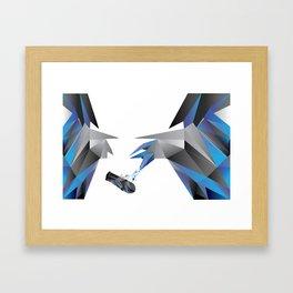 try harder! Framed Art Print