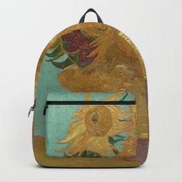 Vincent Willem van Gogh, 1889, Sunflowers / Vase with Twelve Sunflowers, Oil On Canvas Artwork Backpack
