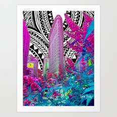 Tribal Iron Art Print