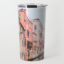 Colorful Pink Yellow Blue Venice Canals | Europe Italy City Travel Photography Travel Mug