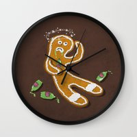 ale giorgini Wall Clocks featuring Ginger Ale by jerbing
