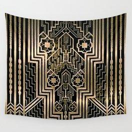 Art Nouveau Metallic design Wall Tapestry