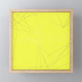 LIGHT LINES ENSEMBLE VIII YELLOW Framed Mini Art Print