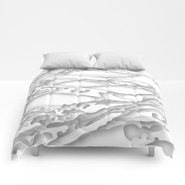 wild white areas Comforters