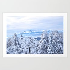 White out #mountains #winter Art Print