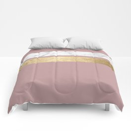 Mauve in the night marble Comforters