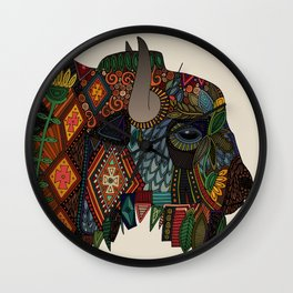 bison bone beige Wall Clock