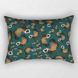 Brave Polecat ( Mustela putorius ) Rectangular Pillow