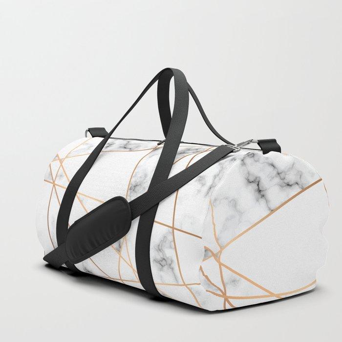 Marble Geometry 054 Duffle Bag
