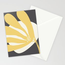 Flower Greeting in Yellow Stationery Cards