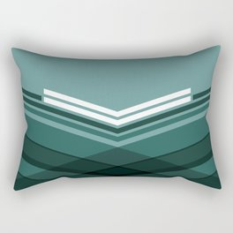 Blue Stripes Rectangular Pillow