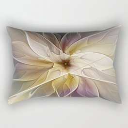 Floral Fantasy, Abstract Fractal Art Rectangular Pillow
