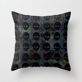 Splat Skullz Throw Pillow