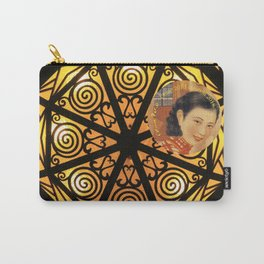 Woman in China - Beijing 7033 - Gold and black decor Carry-All Pouch