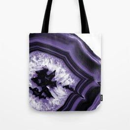 Ultra Violet Agate Chic #1 #gem #decor #art #society6 Tote Bag