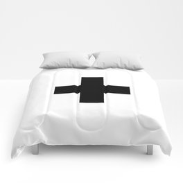 Swiss Cross white and black Swiss Design for minimalist home room wall art decor for apartment Comforters