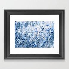 Cornflowers in summer time Framed Art Print