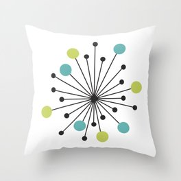 Atomic Age Nuclear Motif — Mid Century Modern Throw Pillow