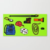 hiking Canvas Prints featuring Hiking by Jonny Penn